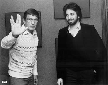 "Leonard Nimoy, aka Mr. Spock, dropped by in 1984 to chat about unexplained phenomena and his experience directing the new movie, ""Star Trek III: The Search for Spock."""